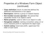properties of a windows form object continued