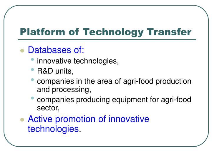 Platform of Technology Transfer