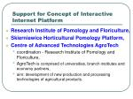 support for concept of interactive internet platform
