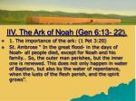 iiv the ark of noah gen 6 13 221