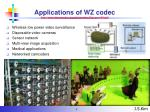 applications of wz codec http www discoverdvc org deliverables discover d4 pdf