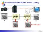 conventional interframe video coding