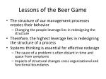 lessons of the beer game