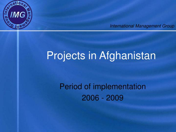 projects in afghanistan n.