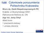cz onkowie porozumienia politechnika krakowska