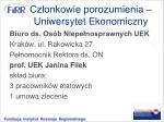 cz onkowie porozumienia uniwersytet ekonomiczny