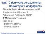 cz onkowie porozumienia uniwersytet pedagogiczny