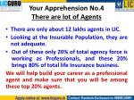 your apprehension no 4 there are lot of agents
