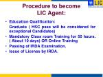 procedure to become lic agent