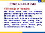 profile of lic of india1