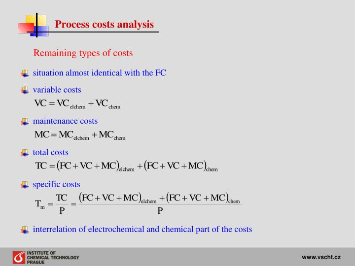 Process costs analysis