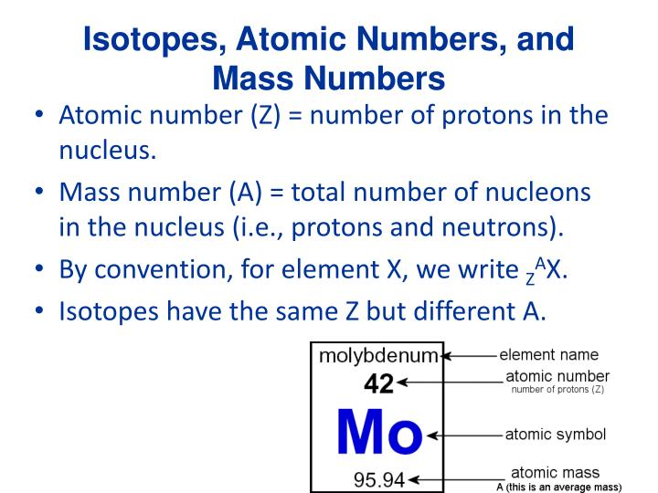 isotopes atomic numbers and mass numbers n.