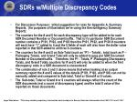 sdrs w multiple discrepancy codes