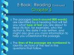 e book reading continued chapter 5