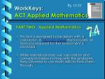 workkeys act applied mathematics