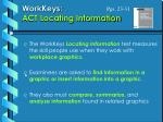 workkeys act locating information