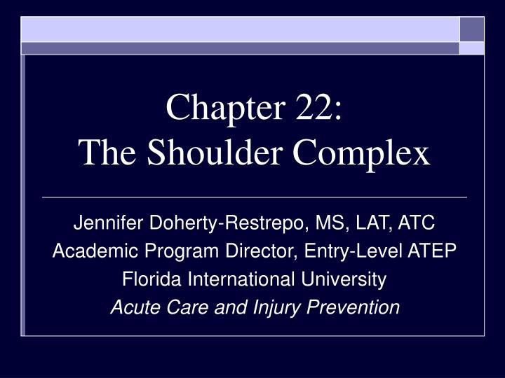 chapter 22 the shoulder complex n.