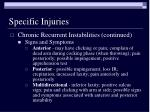 specific injuries12