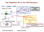 time dependent cpv at the 4s resonance