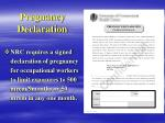 pregnancy declaration