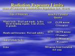radiation exposure limits1