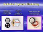 radiation exposure monitoring