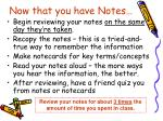 now that you have notes