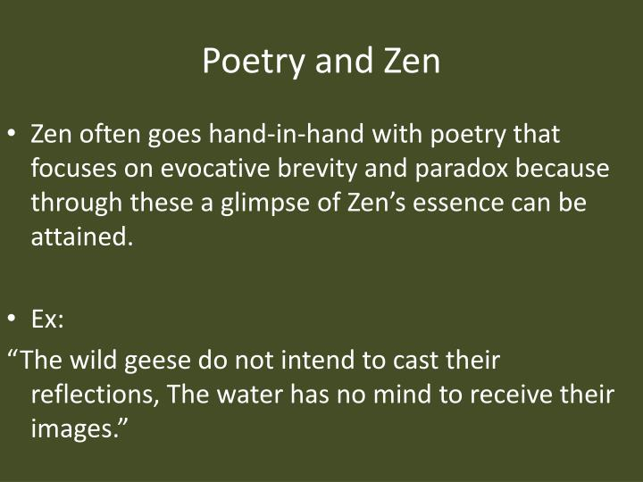 Poetry and Zen