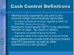 cash control definitions
