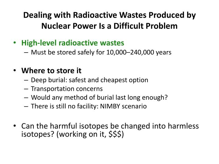 an introduction to the analysis of the issue of radioactive wastes Short-lived radionuclides present in radioactive wastes are considered, including assessment of their content, production rates, typical uses, mobility in the environment and radiological hazard tritium, cobalt-60, strontium-90 and cesium-137 are considered in detail.