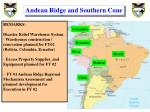 andean ridge and southern cone