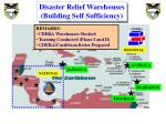 disaster relief warehouses building self sufficiency