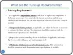 what are the tune up requirements