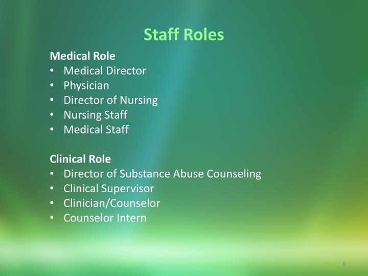 Staff Roles