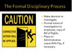 the formal disciplinary process
