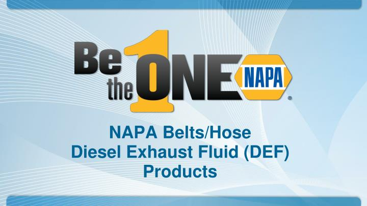 napa belts hose diesel exhaust fluid def products n.
