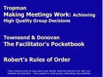 townsend donovan the facilitator s pocketbook
