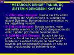 metabol k denge tanimi s stem n denges n kapsar
