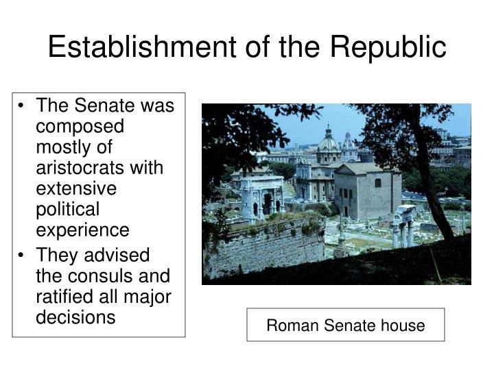 Establishment of the Republic