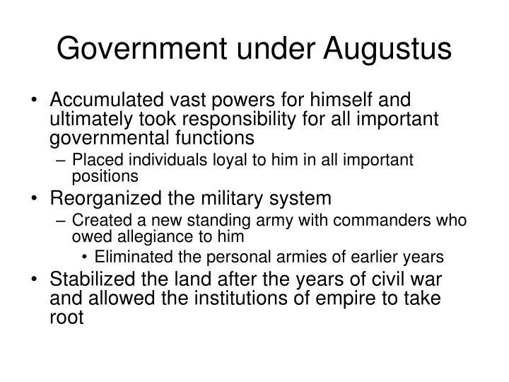 Government under Augustus