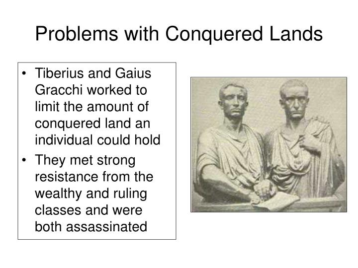 Problems with Conquered Lands