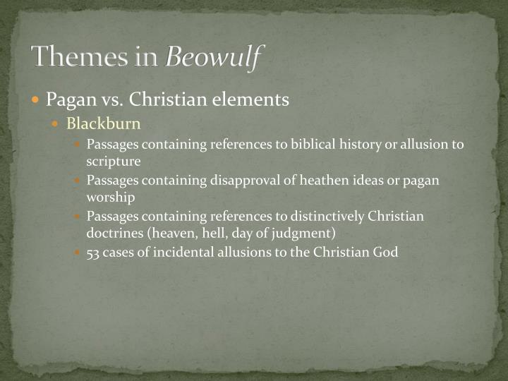 christian references in beowulf