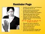 reminder page