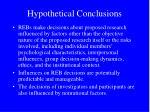 hypothetical conclusions