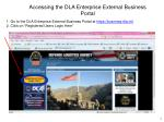 accessing the dla enterprise external business portal