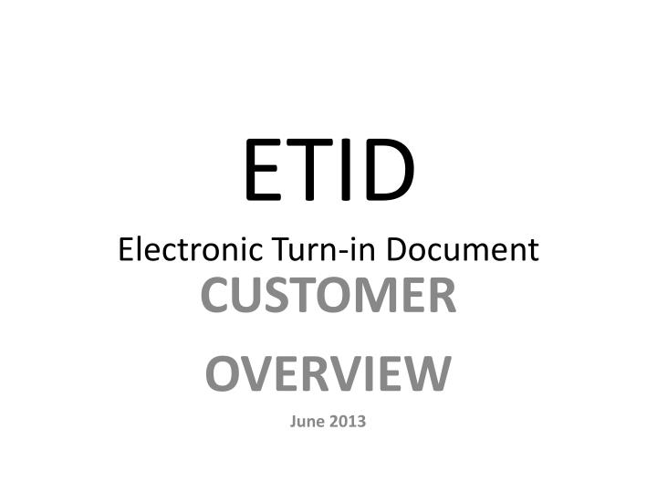 etid electronic turn in document n.