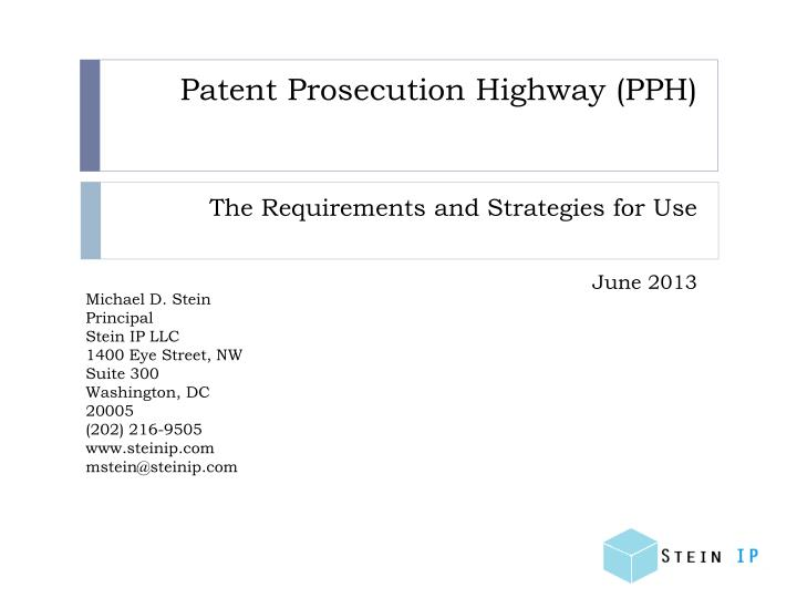 patent prosecution highway pph n.