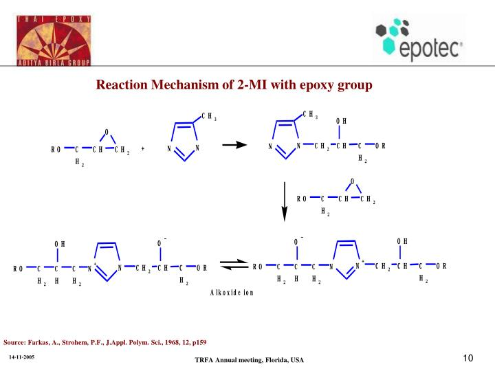 Reaction Mechanism of 2-MI with epoxy group