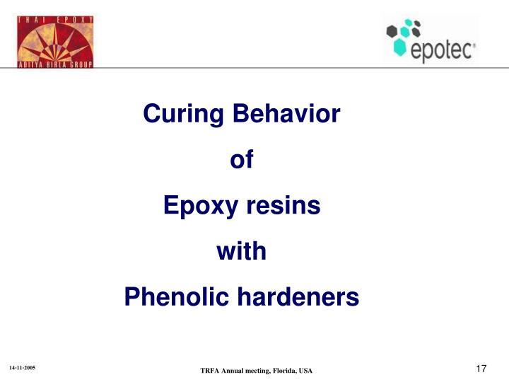 Curing Behavior