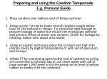 preparing and using the condom tamponade e g protocol guide